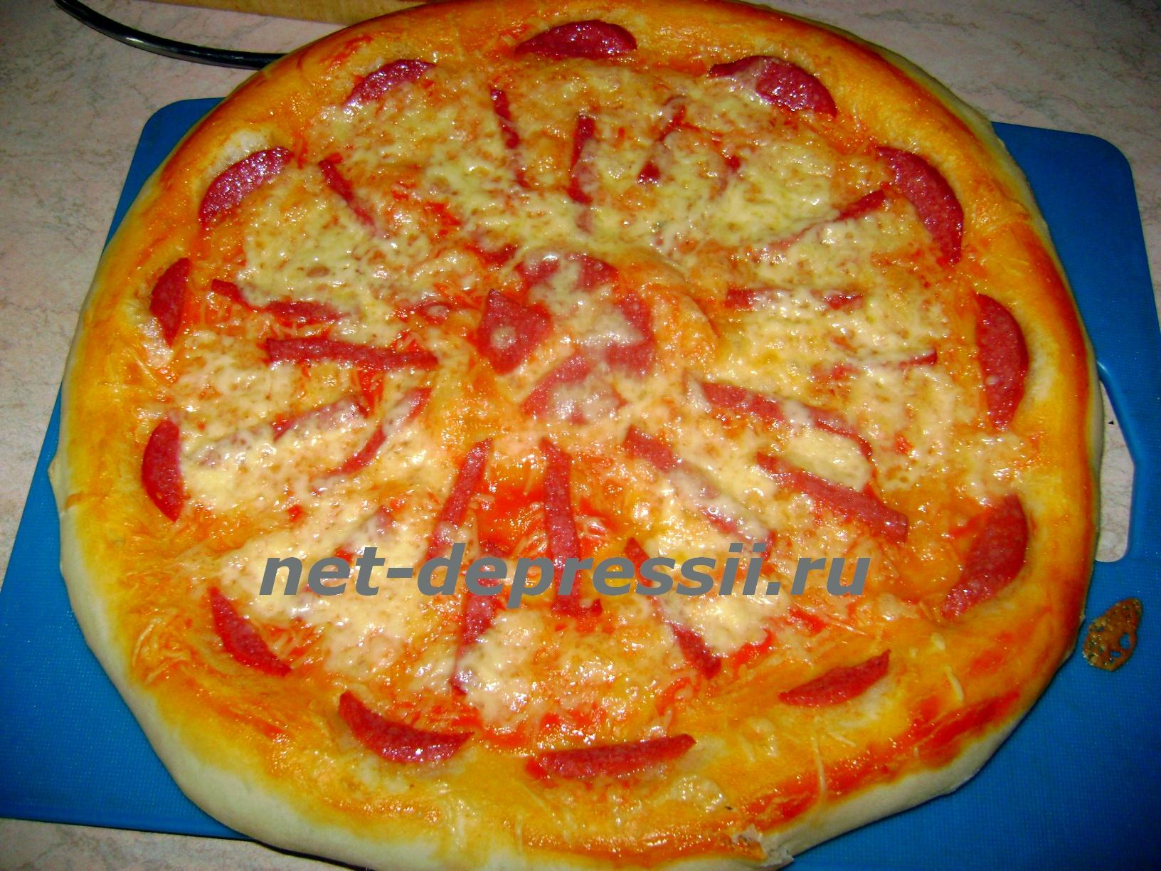 Рецепт итальянской пиццы в домашних условиях в духовке с дрожжами